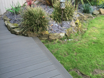 Grey composite decking fitted in, Macclesfield