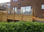 Decking skirting and glass balustrade