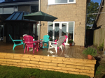 Recent fitting of garden decking in Bollington, Macclesfield