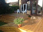 Recent decking system fitted in Bollington